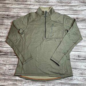 5.11 Tactical Quarter 1/4 Zip Fleece Sweatshirt Breast Pocket Medium Green Warm